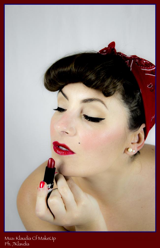 Makeup anni 50 fotografia 7klavdia decimomannu