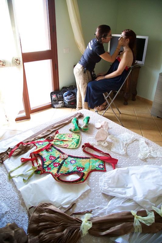 Trucco sposa Terralba, sposa in abito tradizionale