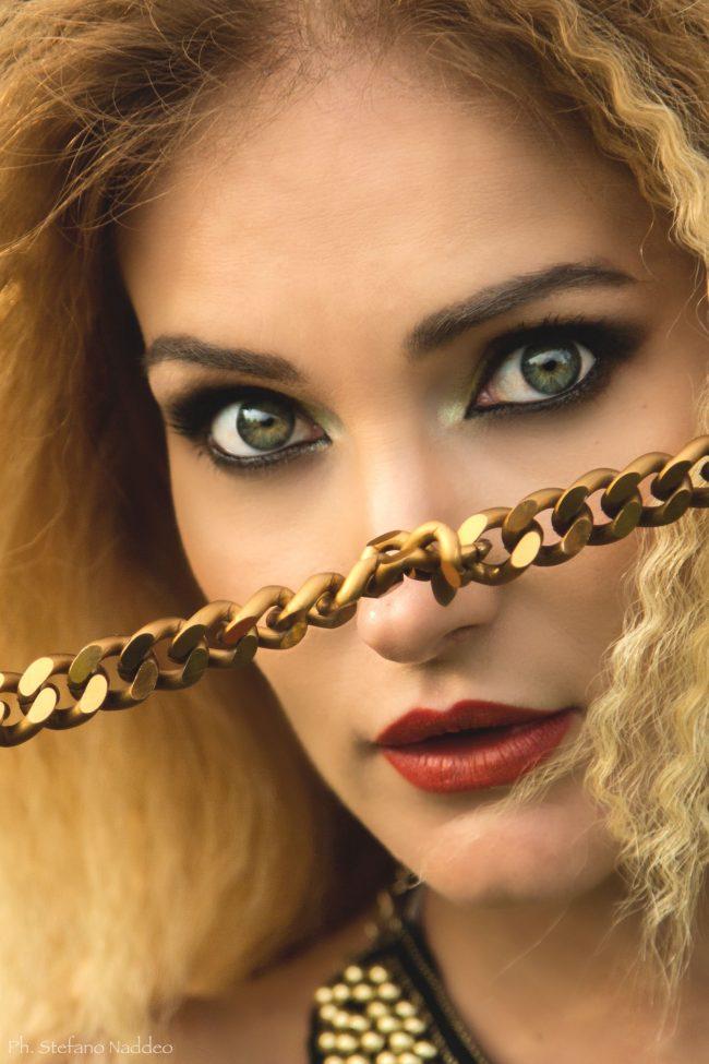Makeup per Shooting fotografico a Cagliari ispirato all'Africa primo piano della modella