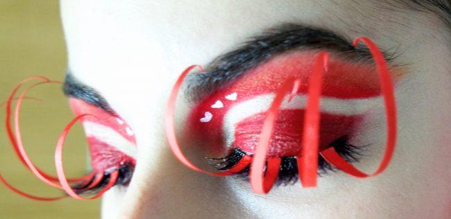 Dettaglio occhio del Makeup ispirato alla Regina di Cuori, san sperate