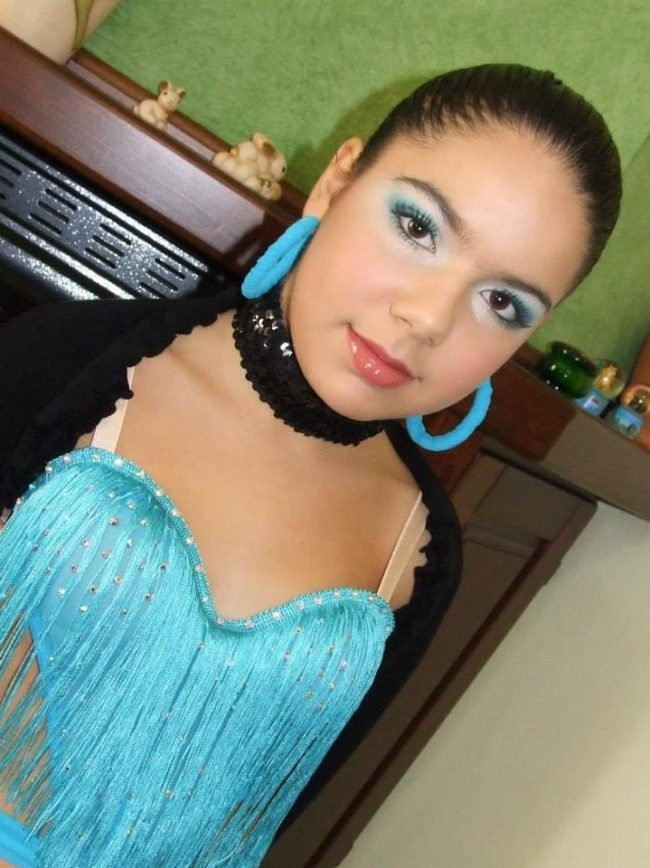 makeup azzurro per gara di ballo cagliari
