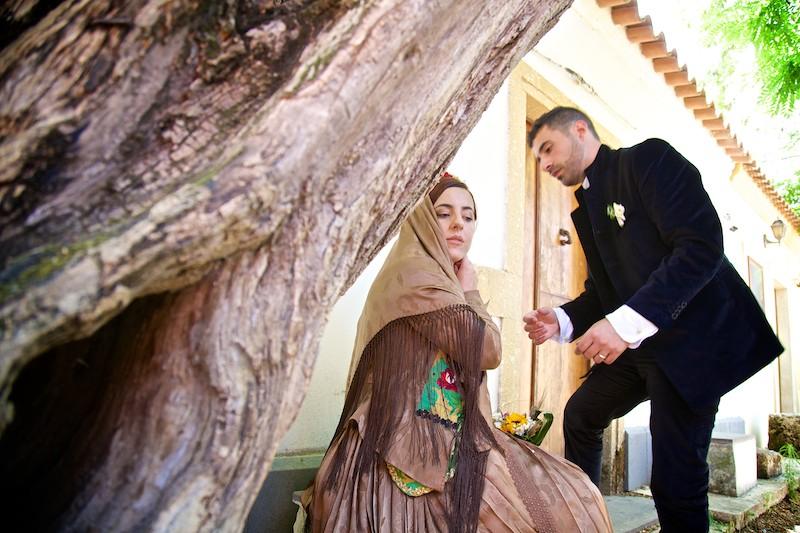 Terralba Trucco Sposa in abito Sardo